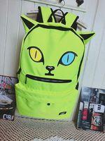 Free Shipping Fresh small cat style  zipper double-shoulder school bag