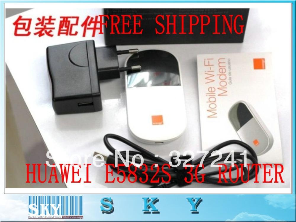 1PCS Unlocked Original Portable HSUPA 5.76M GSM Router HUAWEI E5832S OLED Screen Mobile,PK E5832 E5830 E585(China (Mainland))