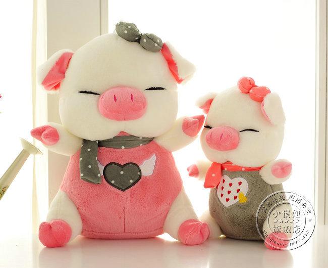 Três cis -pig almofada porco boneca de brinquedo de pelúcia travesseiro porco de presente de aniversário Grande(China (Mainland))