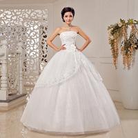 Free Shipping! 2014 New Arrival Fashion Luxury Paillette Sweetheart Princess Bride Wedding Dress
