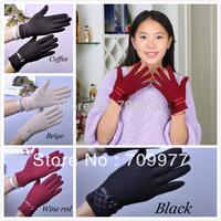 New 2014 Fashion faux Cashmere wool Short Design Winter Thermal Gloves Women Woolen Gloves Cashmere Gloves Female Lamb Fringe