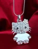 wholesale,Free Shipping,wholesale hello kitty jewelry, hello kitty jewelry cheap white color with free jewelry gift -12pcs a lot