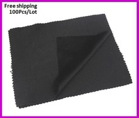 Free Shipping, black microfiber cleaning cloth,18*15cm,soft glasses cloth