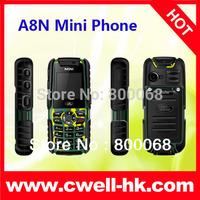 Quad band GSM A8N Mini Phone Dual SIM Card 1.44 Inch Screen Back Camera,FM radio and 4 Colors