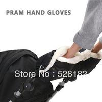 Free Shipping, Pram hand Gloves, Autumn&Winter Strollers warm gloves, Plus velvet Thick gloves, Outdoor antifreeze/warm