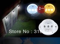 DHL( fedex) free shipping 3 leds high brightness solar led garden lamp solar led lights waterproof IP65 outdoor solar lights