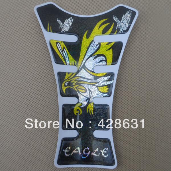 Reflective Eagle Racing Motorcycle Tank Pad Protector For Yamaha Suzuki Kawasaki Free Shipping(China (Mainland))