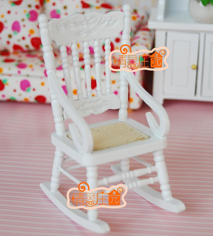 Puppenhaus mini puppenhaus m bel einfarbig schaukelstuhl for Chaise berceuse