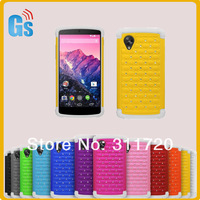 DHL Free Shipping 2 In 1 Silicon + PC Hybrid Diamond Combo Case For LG Nexus 5 E980