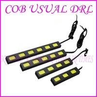 2X COB LED Bar Car High Power Daytime Running Light DRL Fog Driving Lamp White 6 LEDs Module Chip 12V