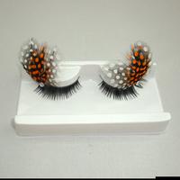 Professional fashion multicolour feather long lips buddhistan false eyelashes free shipping