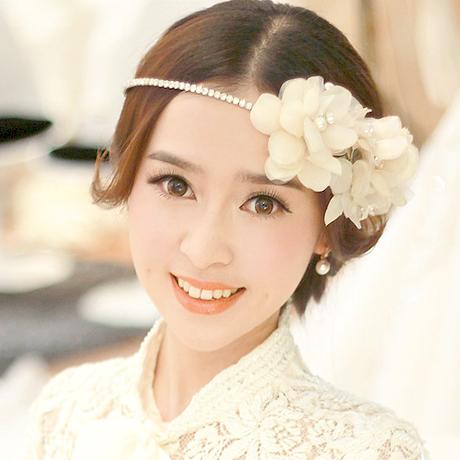 Handmade Crystal bridal flower Hairbands wedding hair accessories tiaras wedding styling tools Valentine s Day Gift