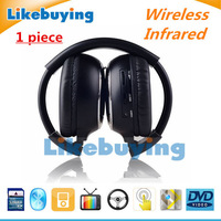 819 Sale Infrared Stereo Wireless Headphones Headset IR in Car roof dvd or headrest dvd Player A channels Free shipping