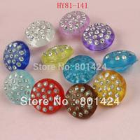Free Shipping 100pcs 81-141 mix colour plastic beads rhinestone acrylic beads