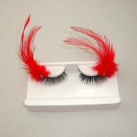 3 pair/ lot 2014 NEW fashion multicolour feather uddhistan false eyelashes free shipping