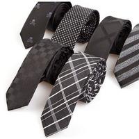 Korean men's skinny tie stripe suits neckties men fashion casual tie narrow 5 cm marriage tie 100% polyester free shipping