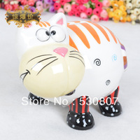 Ceramic piggy bank cat piggy bank decoration technology gift
