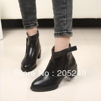 2014 new spring fashion and sexy and low heels women warm black winter boots