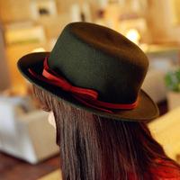 Korean fashion ladies woolen winter hat Korean bow hat topped hat factory wholesale