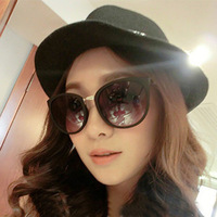 2014 steampunk vintage box personalized fashion brief sunglasses large black-rimmed male female uv glasses y01 contracted