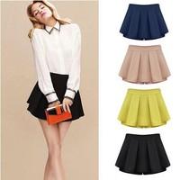 Spring New Women Slim Korean Version Of Sweet Mid Waist Pleated Chiffon Short Skirt Plus Women's Skirts W3331