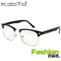 2014 Promotion Special Offer Freeshipping Acetate Fashion Glasses Frame Vintage Myopia Plain Mirror Box of Small Black Metal