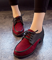 128# 2014 New Cross-tied Shoes Women Shoes Flat Heels Shoes Fashion Oxford Shoes