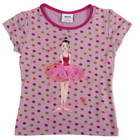 2014 new nova# 18m/6y 5pieces /lot printed lovely fruit short sleeve girl summer T-shirt peppa pigK2538
