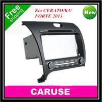 Tough screen car dvd for kia CERATO/K3/FORTE 2013 GPS/Bluetooth/iPOD/Radio Rear Camera MP3/MP4 free gps map wifi as a gift