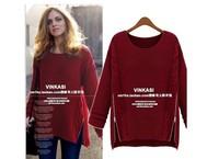 Free Shipping Fashion OT-090 2014 Women New Long Sleeve Pullovers celebrity style winter Zipper knitwear Sweater---H003