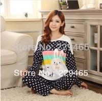 2014 new fashion Home Furnishing sheathed wire long sleeved women pajamas winter night clothes warm sleepwear tracksuit sale