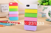 For iphone 4g 4s 5g 5s iphone5g Rainbow TPU Glitter Soft Silicone gel stripe colorful back case 10pcs free shipping China Post