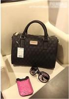 2014 Fashio designer handbag Mng plaid For women's Shoulder/Messenger handbag mango black plaid women leather handbags