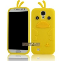 Hippo1 ducks cartoon  for SAMSUNG   i9500 mobile phone case galaxy s4 silica gel sets i9508 soft shell