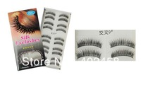 30 pairs/ 3boxes/lot  Silk Eyelashes /Reusable Natural Eyelashes hand made eyelashes free shipping