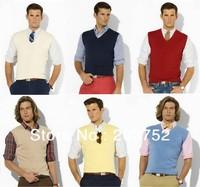 Free Shipping Sleeveless V-neck Men POLO  Autumn Sweater Knitted Vest Men PL0027