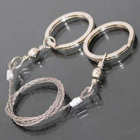 Free Shipping! Sporting Gifts Silver Steel Wire Saw Scroll Saw Emergency Hiking Camping Hunting Outdoor Survival Tool
