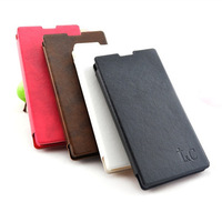 Free Shipping (5pcs/lot) Top Quality Simulation leather case Classic style for Huawei P6 cell phone