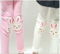 Wholesale 1 lot = 5 pieces 2014 Cartoon Rabbit Girls Pants Leggings Korean Style Girl Cotton Top Quality China Factory Direct
