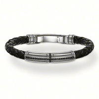 Wholesale beautiful 925 Silver leather bracelet / ,Free shipping, 925 silver bracelet JEWELRY,factory price. TH 216