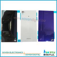 Original new for Sony Xperia Z1 L39 L39H Honami C6903 C6906 C6943 back cover battery door housing back glass, black white purple