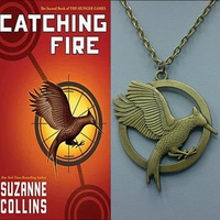 No Mini Order.M031 Fashion jewelry bijoux  jewelry,newest The Hunger Games 2 LOGO Mock Bird Pendant Necklace