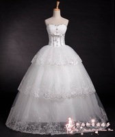 On sale 2013 sweet princess tube top wedding dress bandage wedding dress  custom measurement bridal dresses