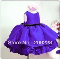 Free Retail baby girls autumn princess dress kids formal dress beautiful wedding/party dress children baby girls flower dress