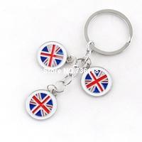 Free shipping bandeira claves fancy keyring trinket enamel colorful Britain souvenir wholesale zinc alloy fashion flag keychain