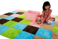 free shipping 18pcs/lot Middlebury magic velvet carpet mats patchwork living room coffee table decoration eva puzzle