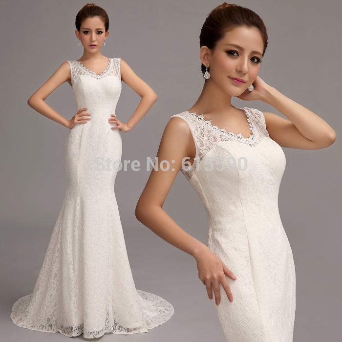 2014 preço barato, melhor vestido de casamento , noiva nova chegada doce princesa fino rabo de peixe trem do laço vestido de noiva 8108 #(China (Mainland))
