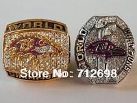 A Set NFL Baltimore Ravens XXXV XLVII Super Bowl Championship Ring size 11 US Best Gift for Fans Collection 2PCS 2000 2012 Value