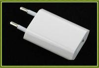 100pcs/lot White European USB AC Wall Power Adapter EU Plug Charger For iPhone 5 4 4s iPod Mobile Mp3 Free DHL