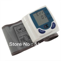 Free Shipping Digital LCD Wrist Cuff Arm Blood Pressure Monitor Heart Beat Meter Machine wholesale and retail